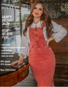 Salopete Jeans Color - Moda Evangélica Joyaly  (11881 E)
