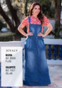 Salopete Longa Jeans - Moda Evangélica Joyaly (11617 E)