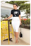 T-Shirt Em Bangkok Acompanha Brincos - Luciana Pais (92646 E)