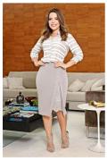 Vestido Blusê retilinea - Moda Evangélica Kauly (2630 E)
