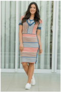 Vestido Crepe de Malha - Moda Evangélica Luciana Pais (92868 T)