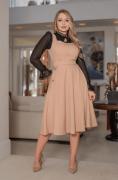 Vestido Em Alfaiataria C Bolsos - Moda Evangélica Kauly (3097 E)