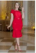 Vestido Em Alfaiataria - Moda Evangélica Kauly (2983 E)