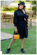Vestido Em Crepe Musseline - Moda Evangélica Luciana Pais (93016 T)