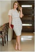 Vestido Em Laise - Moda Evangélica Lançamento Kauly (2931 T)