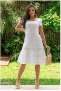 Vestido Em Laise - Moda Evangélica Lançamento Luciana Pais (92890 T)