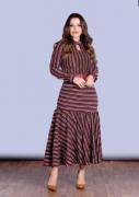 Vestido Em Malha Com Cinto - Lançamento Joyaly (30550 E)