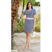Vestido Em Malha - Moda Evangélica Lançamento Luciana Pais - (92835 T)