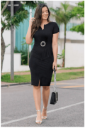 Vestido Em Moletom - Moda Evangélica Luciana Pais (92871 T)