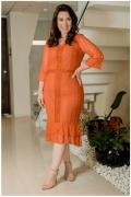 Vestido Renda Plus Size - Moda Evangélica Kauly (2929 T)