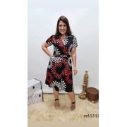 Vestido Em Twill Magnetado - Moda Evangélica Cechiq (5117 E)