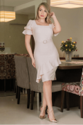 Vestido Em Viscolinho Com Cinto - Moda Evangélica Kauly (2927 T)