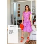Vestido Em Viscose E Lurex - Moda Evangélica Joyaly (30770 T)