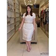 Vestido Em Viscose - Moda Evangélica Cechiq (5020 T)