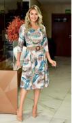 Vestido Evase com Cinto - Moda Evangélica Maria Amore (2646 E)