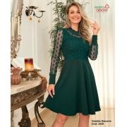 Vestido Lady Like Bordado - Moda Evangélica Maria Amore (3430 E)