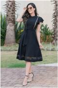 Vestido Lasie Malha - Moda Evangélica Luciana Pais (92857 T)