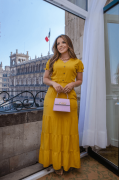 Vestido Longo Bolsos W - Moda Evangélica Joyaly (30804 E)
