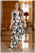 Vestido Longo Em Crepe - Moda Evangélica Kauly (2986-2987 E)