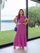 Vestido Longo Em Viscose - Moda Evangélica Joyaly (30828 T)