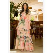 Vestido Longo Estampado - Moda Evangélica Luciana Pais (92801 T)