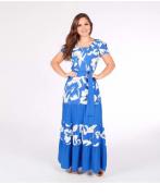 Vestido Longo Em Viscose - Moda Evangélica Joyaly (30954 E)