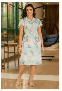 Vestido Malha Canelada - Moda Evangélica Luciana Pais (92919 E)
