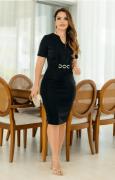 Vestido Montaria Com Brilho - Lançto Kauly (2785 E)