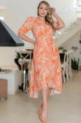 Vestido Mullet Crepe - Moda Evangélica Kauly (3155 E)