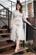 Vestido Plus Size Crepe Bubble com Rendas - Kauly (2784 E)