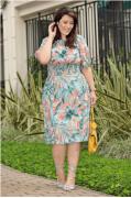 Vestido Plus Size Crepe Bubble - Kauly (2731 E)