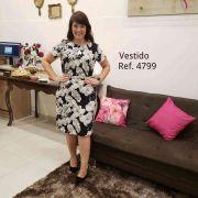Vestido Plus Size Reto - Moda Evangélica Cechiq  (4799 E)