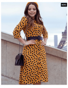 Vestido Poa Madame Paris - Joyaly (30488 E)