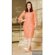 Vestido Renda Plus Size - Moda Evangélica Kauly (2909 T)