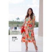 Vestido Tropical - Moda Evangélica  Joyaly (30560 E)