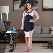 Vestido Geométrico Bordado - Maria Amore (2440 E)