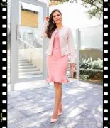 Vestido c/casaco detalhe pérola Maria Amore Outono/Inverno 2019