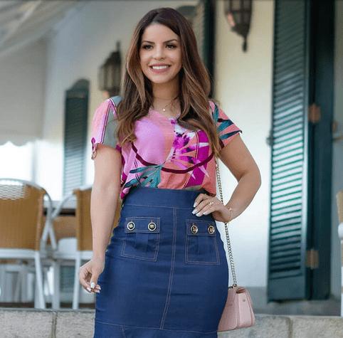 Blusa Em Viscose - Moda Evangélica Joyaly (50072 E)