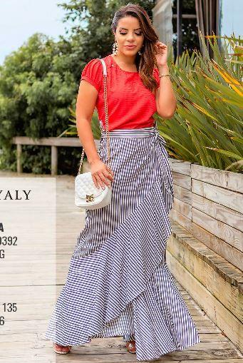 Blusa Fenda Ombro - Moda Evangélica Lançto Joyaly (30392 E)