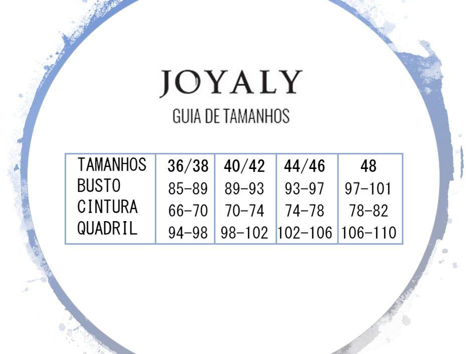 Blusa Folha Gola Redonda - Moda Evangélica Joyaly (50029 E)
