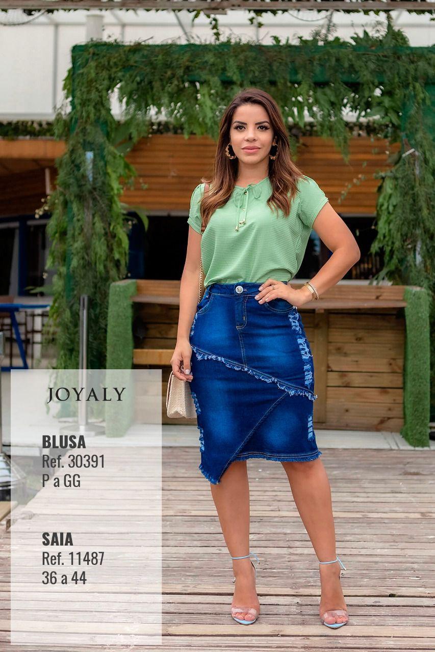 Blusa Laço Decote - Moda Evangélica Lançto Joyaly (30391)