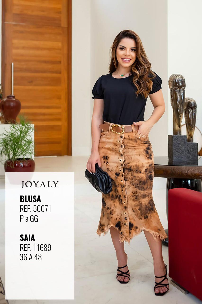 Blusa Lisa Em Crepe - Moda Evangélica Joyaly (50071 T)