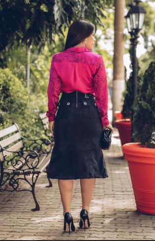 Camisa Em Cetim Pink - Lançto Joyaly (11423 T)