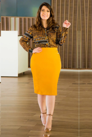 Camisa Em Chiffon Com Fio De Lurex Plus Size - Kauly (2872 T)