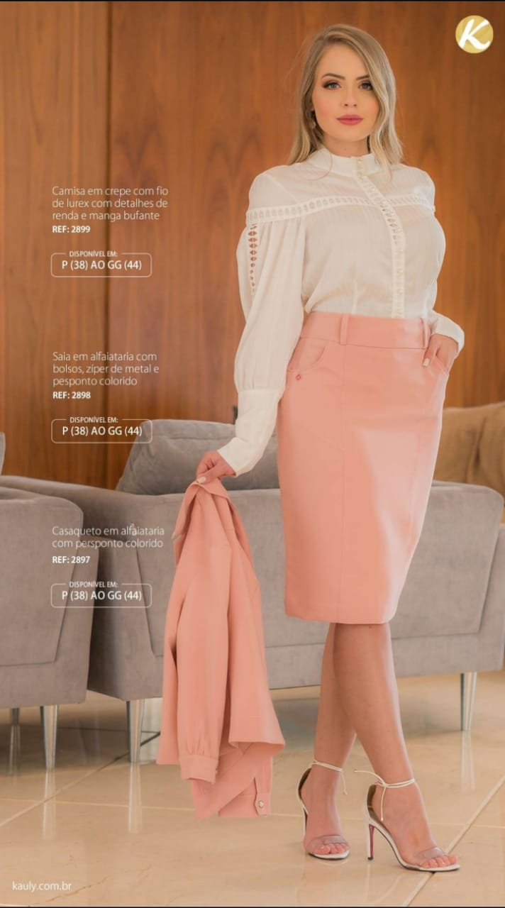 Camisa Em Crepe - Moda Evangélica Lançamento Kauly (2899 T)