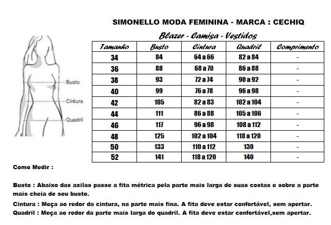 Camisa Em Viscose - Moda Evangélica Cechiq - (5048 T)