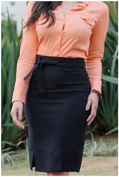 Camisa Em Viscose - Moda Evangélica Luciana Pais (92869 T)