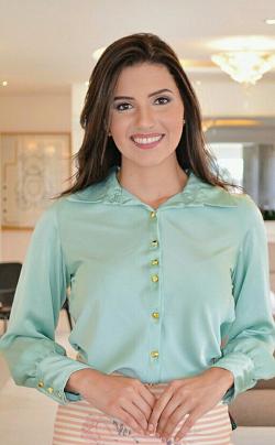 Camisa Manga Longa Jaqueline verde Maria Amore