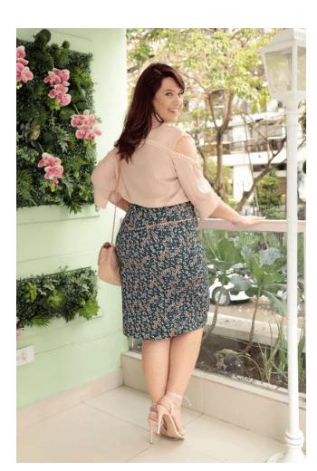 Camisa Plus Size Em Crepe - Moda Evangélica Kauly (2705 E)