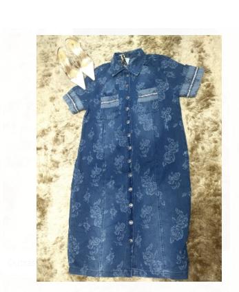 Chemisie Jeans Com Bolso Frontal - Joyaly (10800 E)